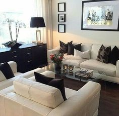Cozy Living Room Ideas for Small Apartment - The Urban Interior Cozy Living Rooms, Home Living Room, Apartment Living, Living Room Designs, Living Room Furniture, Living Room Decor, Furniture Plans, System Furniture, Condo Living