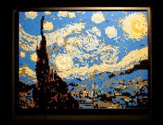 The Art of the Brick. Art Exhibition in London. I love Lego! Van Gogh, Lego Painting, Lego London, Lego Mosaic, Laide, Lego Photo, Famous Artwork, Artistic Installation, Large Artwork