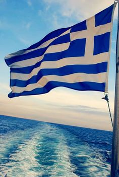 Greece - blue and blue, and Greek fla. Greek Dancing, Greece Flag, Greek Beauty, Greek Culture, Greece Islands, Parthenon, Flags Of The World, Greek Gods, Travel Themes