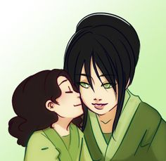 Toph Bei Fong and little Lin