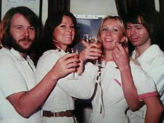 ABBA 1976 Anni-Frid Lyngstad and Benny Andersson and Agnetha Fältskog and Björn Ulvaeus