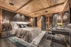 Luxurious chalet in the Swiss Alps offers ski resort winter escape Chalet Chic, Chalet Style, Ski Chalet Decor, Chalet Design, Swiss Chalet, Swiss Alps, Chalet Interior, Zermatt, Cabin Interiors