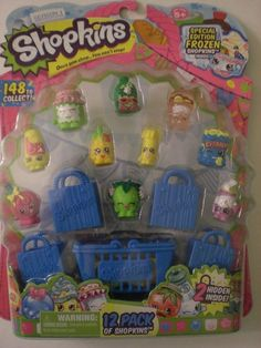 Shopkins 12 pack Season 1 Special Edition Frozen + 2 Hidden HTF Hot Toy! #Moose