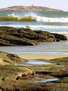 Popham Beach, Maine. Seguin from Fox Island. Brad Blake, photographer