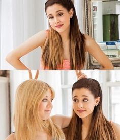 bffs for ever just like me and my bff xxx lol Ariana Grande Selena Gomez, Ariana Grande Pictures, Justin Bieber, Icarly And Victorious, Jenette Mccurdy, Ariana Grande Dangerous Woman, Sam And Cat, One Direction Pictures, Cat Valentine