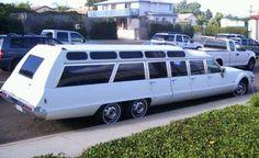Uber-groovy! A six wheeled Olds Toronado custom limo. Cool...