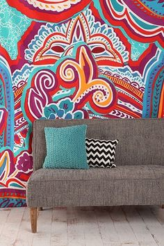Painted Paisley Tapestry