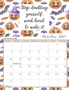 FREE Printable 2021 Monthly Motivational Calendars. Space for setting goals, different motivational quote each month, holidays marked. Get motivated and organized with this free printable calendar. Free Printable Calender, Free Calendars To Print, Monthly Calender, Print Calendar, 2021 Calendar, Free Printable Coloring Pages, Free Printables, Weight Loss Calendar, Us Holidays
