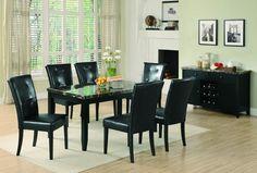 Anisa Casual Black Dining Room Set