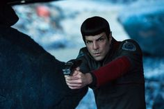 Zachary Quinto and Karl Urban in Star Trek Beyond (2016)