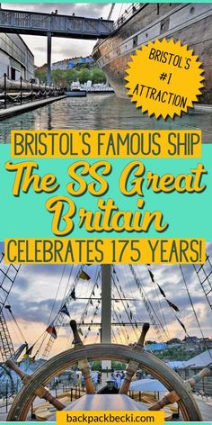The SS Great Britain, Brunles greatest ship. Bristol's famous ship celbrates her birthday. A must visit while in Bristol UK. Bristol Map, Bristol Houses, Visit Bristol, Bristol Street, Bristol City, Great Buildings And Structures, Modern Buildings, Isambard Kingdom Brunel, Bristol England