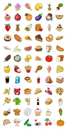 ◧ [Get Nulled]◂ Food Sketchy Colored Icons Doodle Icons Food Food And Drinks Food Clipart Food Doodle Icons Food Doodle Icons Set Food Stickers, Kawaii Stickers, Journal Stickers, Printable Stickers, Cute Stickers, Cute Small Drawings, Mini Drawings, Kawaii Drawings, Food Doodles