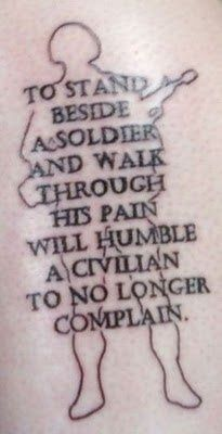 i like the quote. that tattoo is plain