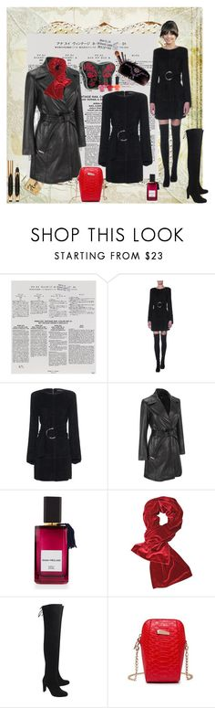 """""""Untitled #8343"""" by snowmoon ❤ liked on Polyvore featuring Anna Sui, Jitrois, Wilsons Leather, Diana Vreeland, Stuart Weitzman and Yves Saint Laurent"""