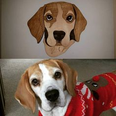 Bespoke order of Willow the Beagle! #cool #willowthebeagle #willow #beagle #beagles #beaglestagram #dogart #multilayeredpictire #bespoke #jld