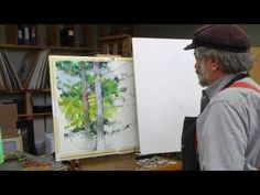 How to paint trees and rocks with Albert Handell