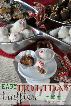 EASY Holiday Truffles- made with only 4 ingredients, including #CoolWhip www.shugarysweets.com #nambe