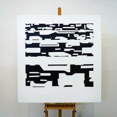 Painting artists horizontal abstract interior