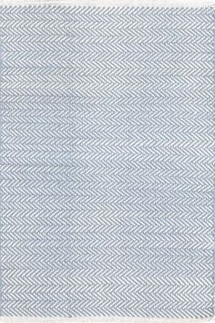 Master Bedroom? // Herringbone Swedish Blue Woven Cotton Rug