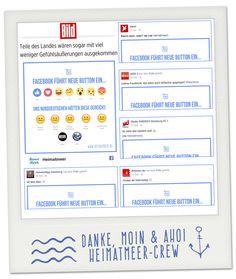 Facebook Button - Her mit dem MOIN. & Ahoi Buttons Mark Z.!