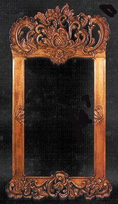 Imagenes Victorianas: Espejo trabajado.