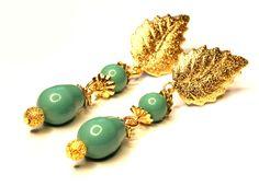 Brincos Folheados em Ouro com Swarovski Gemstone