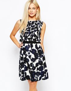 Oasis Mono Print 2 In 1 Dress, from asos.com - http://themerrybride.org/2015/09/05/wedding-guest-dress-ideas-from-asos-com/