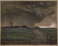 """""""Coming Storm"""" - Jean-François Millet (French, 1814 - Landscape Paintings, Historical Painting, Art Appreciation, Millet, Millet Paintings, Barbizon School, Jean Francois Millet, Art, Landscape Art"""