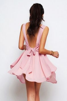 V scoop backless and bow, fave <3