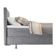 ÅRVIKSAND Boxspringbett - 180x200 cm, Hövåg/mittelfest grau - IKEA