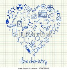 I love chemistry doodles in the heart vector from kytalpa on VectorStock®, . - Education subject : I love chemistry doodles in the heart vector from kytalpa on VectorStock®, . Biology Drawing, Chemistry Drawing, Chemistry Jokes, Teaching Chemistry, Chemistry Lessons, Science Jokes, Ap Biology, Science Fun, Physical Science