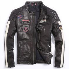 Tienda Online Hombres de La Chaqueta de La Motocicleta Chaqueta de Cuero de Los Hombres | Aliexpress móvil