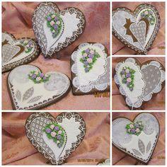 Gingerbread  heart Keepsake heart cookies Valentine Cookies, Easter Cookies, Love Valentines, Gingerbread Decorations, Gingerbread Cookies, Order Cookies, Wedding Cake Cookies, Decorator Frosting, Frosting Techniques
