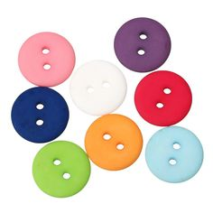 50 pcs/Set Multicolor Round Shaped Buttons //Price: $7.95 & FREE Shipping //     #architecture #decor #vintage