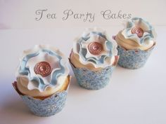 Springtime Vintage Cupcakes By teaparty on CakeCentral.com