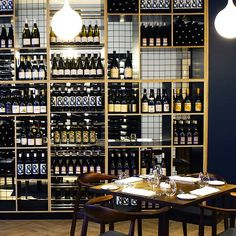 A recent installation for BFG at Meat Fish Wine restaurant in Auckland Office Furniture, Furniture Design, Bfg, Restaurant Shelving, Wine Rack, Photo Wall, Custom Wood, Auckland, Fish