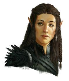 "we-are-rogue: "" Half-Elf Portrait by kimsokol """