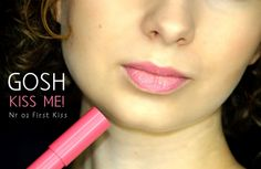 Gosh Kiss me! Pomadka w kredce nr 02 first Kiss #lipstick