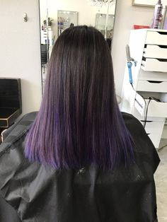Image result for purple hair straight