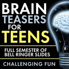 Time to add some challenging fun to your classroom routine with Brain Teasers for teens! First, give these head-scratchers a try: When you're ready, scroll down for the answers. Now, did you really... High School Classroom, Classroom Fun, Science Classroom, Teaching Science, Classroom Activities, High School Activities, School Icebreakers, Teen Activities, Efl Teaching