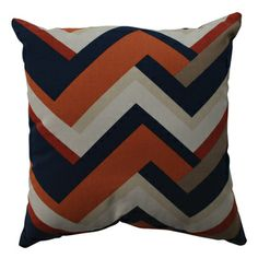 @Overstock.com - Pillow Perfect Concorde Chevron 16.5-inch Throw Pillow - Add the perfect blend of style and comfort to any space in your home with this 16.5-inch blue and coral chevron throw pillow from Pillow Perfect. This square-shaped throw pillow features a wonderful cotton-constructed cover.   http://www.overstock.com/Home-Garden/Pillow-Perfect-Concorde-Chevron-16.5-inch-Throw-Pillow/8099538/product.html?CID=214117 $31.49
