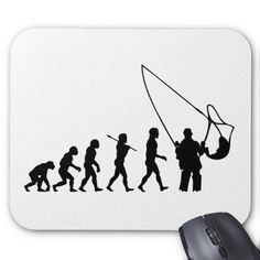 Fishing Evolution ~ Fisherman Fly Mouse Pad
