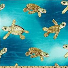 More sea turtles Kelly has this fabric in her classroom!