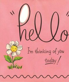 Of course I'm thinking of you, Beautiful Lady.  I never stop thinking of you.  :)