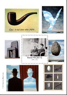 affiche présentation Magritte Art History Lessons, Art Lessons For Kids, Art Lessons Elementary, Magritte Art, Art Montessori, Classe D'art, Pop Art Drawing, Ecole Art, Art Curriculum