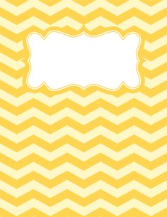 Free printable yellow chevron binder cover template. Download the cover in JPG or PDF format at http://bindercovers.net/download/yellow-chevron-binder-cover/