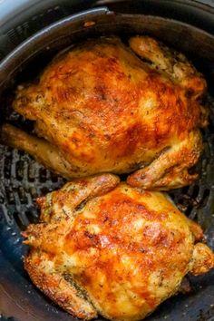 Fried Cornish Hen Recipe, Air Fryer Cornish Hen Recipe, Cooking Cornish Hens, Air Fryer Recipes Keto, Air Frier Recipes, Air Fryer Dinner Recipes, Cooking Recipes, Cornish Game Hen, Air Fried Food