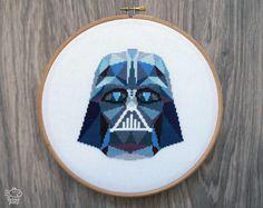 Star Wars Cross Stitch Pattern Darth Vader by VelvetPonyDesign