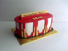 Daniel Tiger's Trolley Birthday Cake