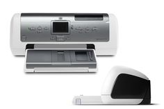 HP 7960 Photosmart printer. One of the first high resolution consumer color printers with a color LCD screen to hit the market in 2003.  James Owen Design + HP  #design #industrialdesign #productdesign #productdevelopment #brand #strategy #visual #designlife #designer #vision #visual